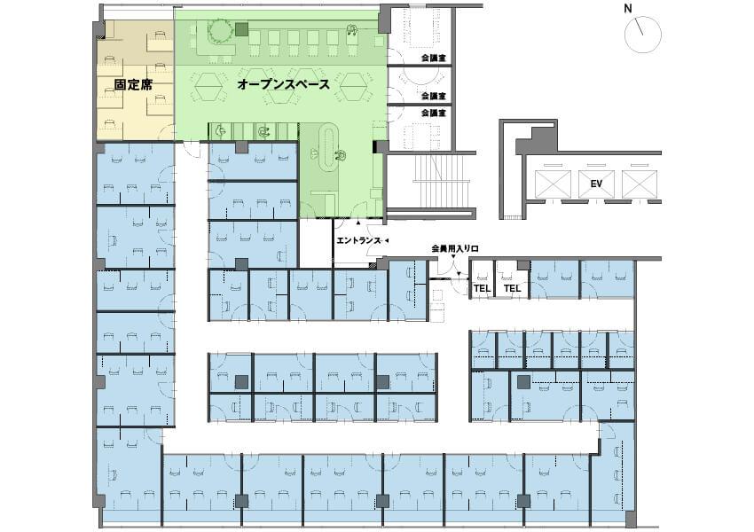 billage HIROSHIMA 合人社広島紙屋町ビル フロアマップ