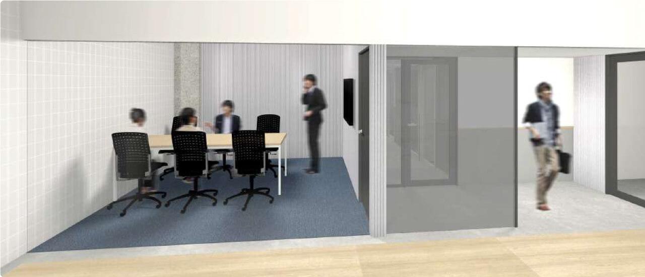 快適に仕事ができる個室/会議室